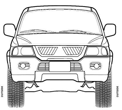 Схема правильной установки асимметричных зимних шин Viatti Nordico на автомобиль